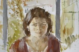"""Alice   15x12""""  watercolour  2013"""