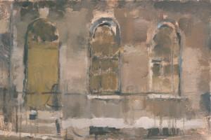 """Lincoln's Inn Fields  2013  oil on panel  10x6"""""""