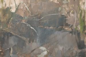 "River Shallows  2010  oil on canvas  16x12"""