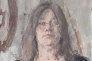 "Self-portrait  2012  oil on canvas  16x12"""