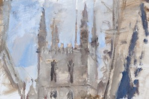Southwark Cathedral 2012 oil on panel  10x6""